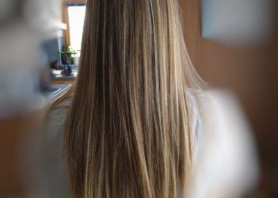 cheveux long avec des mèches