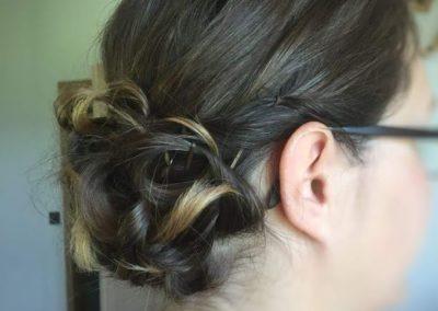 coiffure mariage bas côté droite
