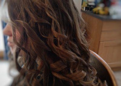Coupe long cheveux + boucle de côter