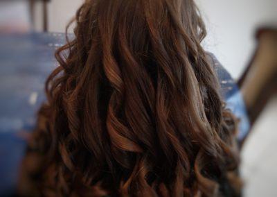 Coupe long cheveux + boucle de derriere