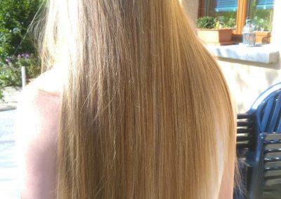 Cheveux long mécher